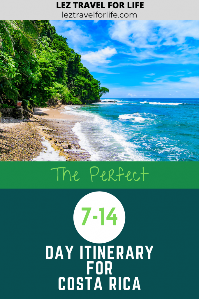 Costa Rica Itinerary   Looking for a Costa Rica travel itinerary? Do you have 7 days or 2 weeks? Not sure if you want to go to the Caribbean coast or the Pacific coast? Check out this Costa Rica Itinerary to plan your trip. #costarica #travelcostarica #travelitinerary