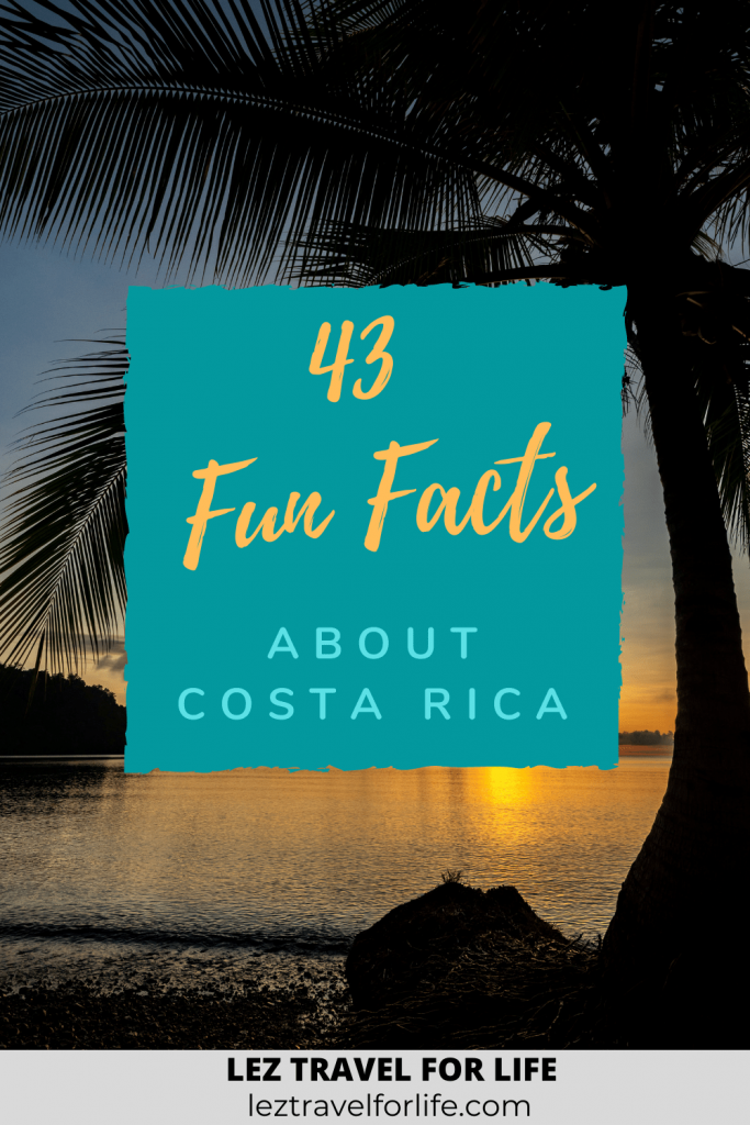 Fun Facts About Costa Rica  | Are you an expert on Costa Rica? Do you want to know more about this beautiful country? Check out these fun facts about Costa Rica! #funfacts #funfactscostarica #costarica #travelcostarica