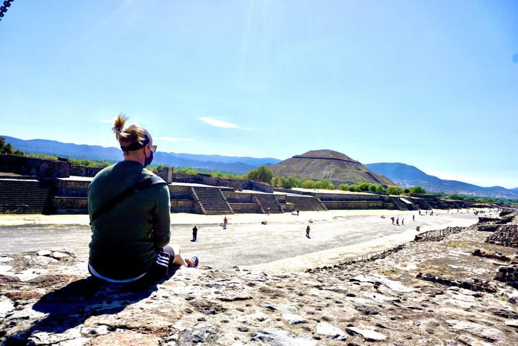 Teotihuacan pyramids outside of mexico city