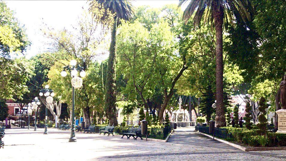 Zocalo Park in Puebla