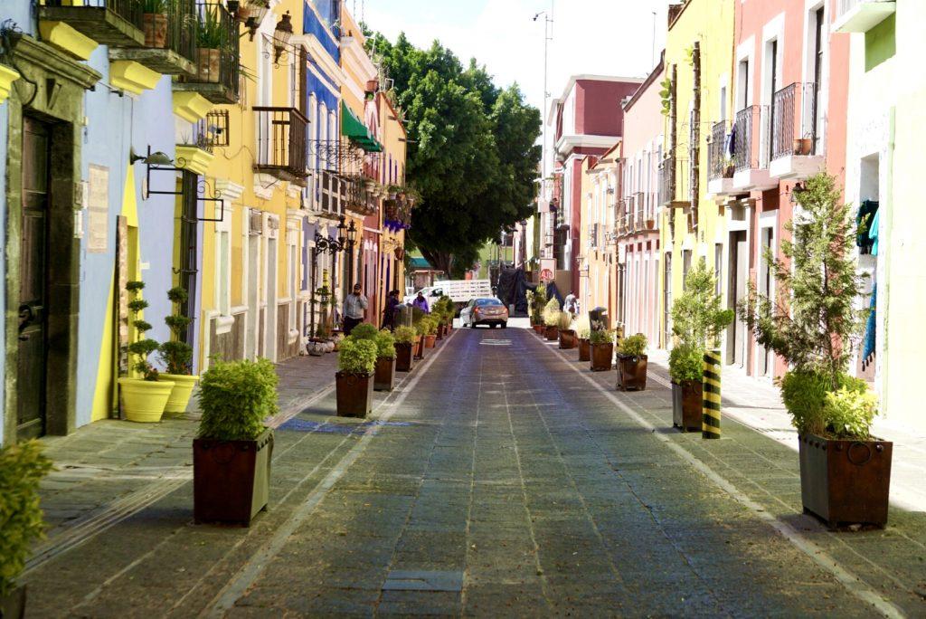 colorful street- Puebla