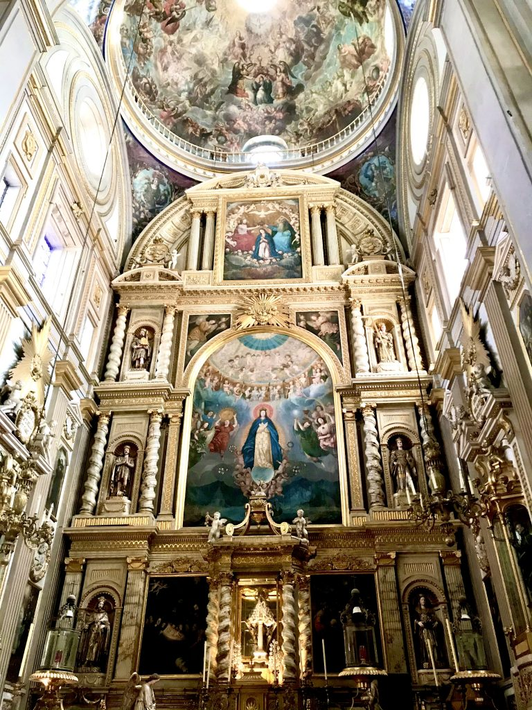 Inside the Puebla Cathedral
